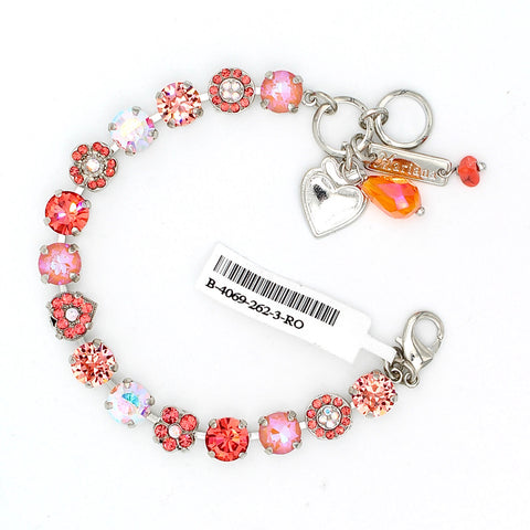 Lovers Coral Collection Heart Crystal Bracelet