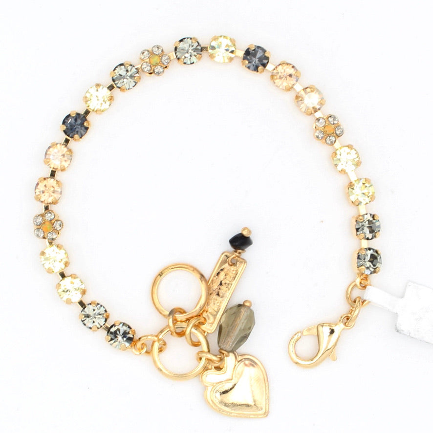 Painted Lady Petite Flower Bracelet in Yellow Gold