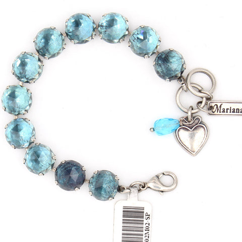 Aquamarine Ignite Checkerboard Lovable Crystal Bracelet