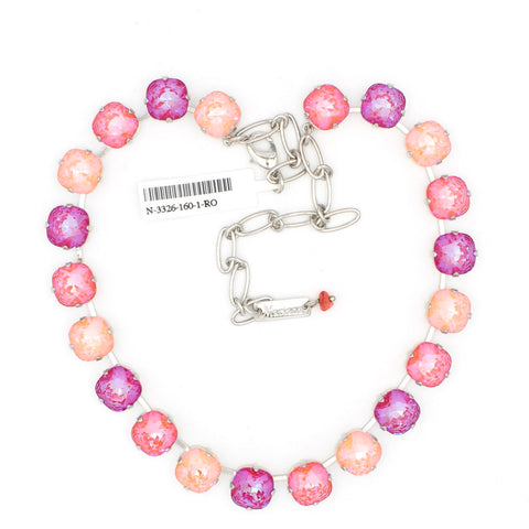 Sparkeltini 12MM Square Cushion Cut Crystal Necklace