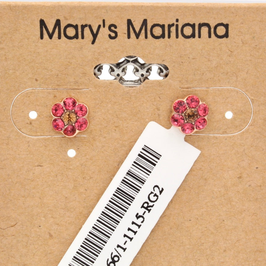 Gingerbread Collection Small Flower Earrings in Rose Gold *POST*