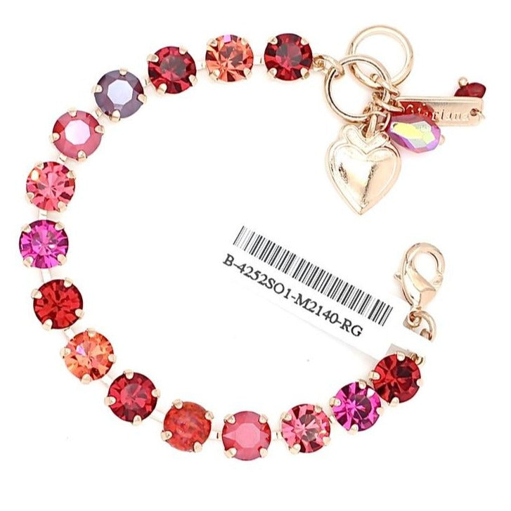 Firefly Collection Medium Crystal Bracelet in Rose Gold