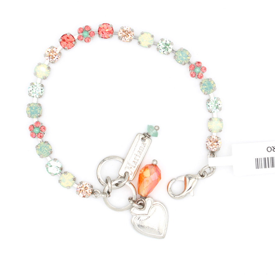 Peachy Keen Collection Petite Crystal Flower Bracelet