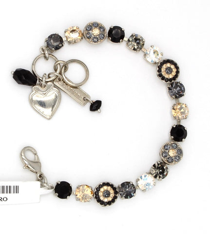 Black Orchid Collection Ornate Crystal Bracelet
