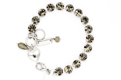 Black Diamond Sparkly Crystal Bracelet