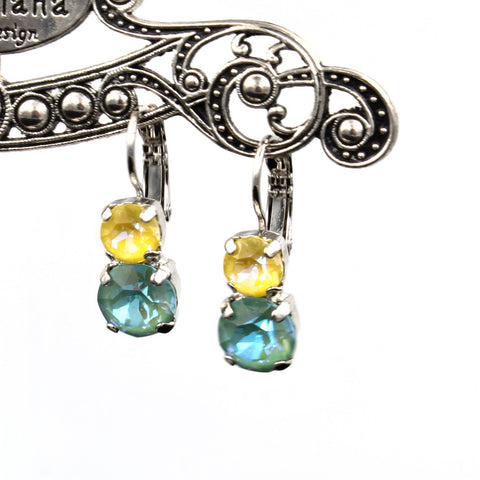 Beach Sunkissed Collection Double Crystal Earrings