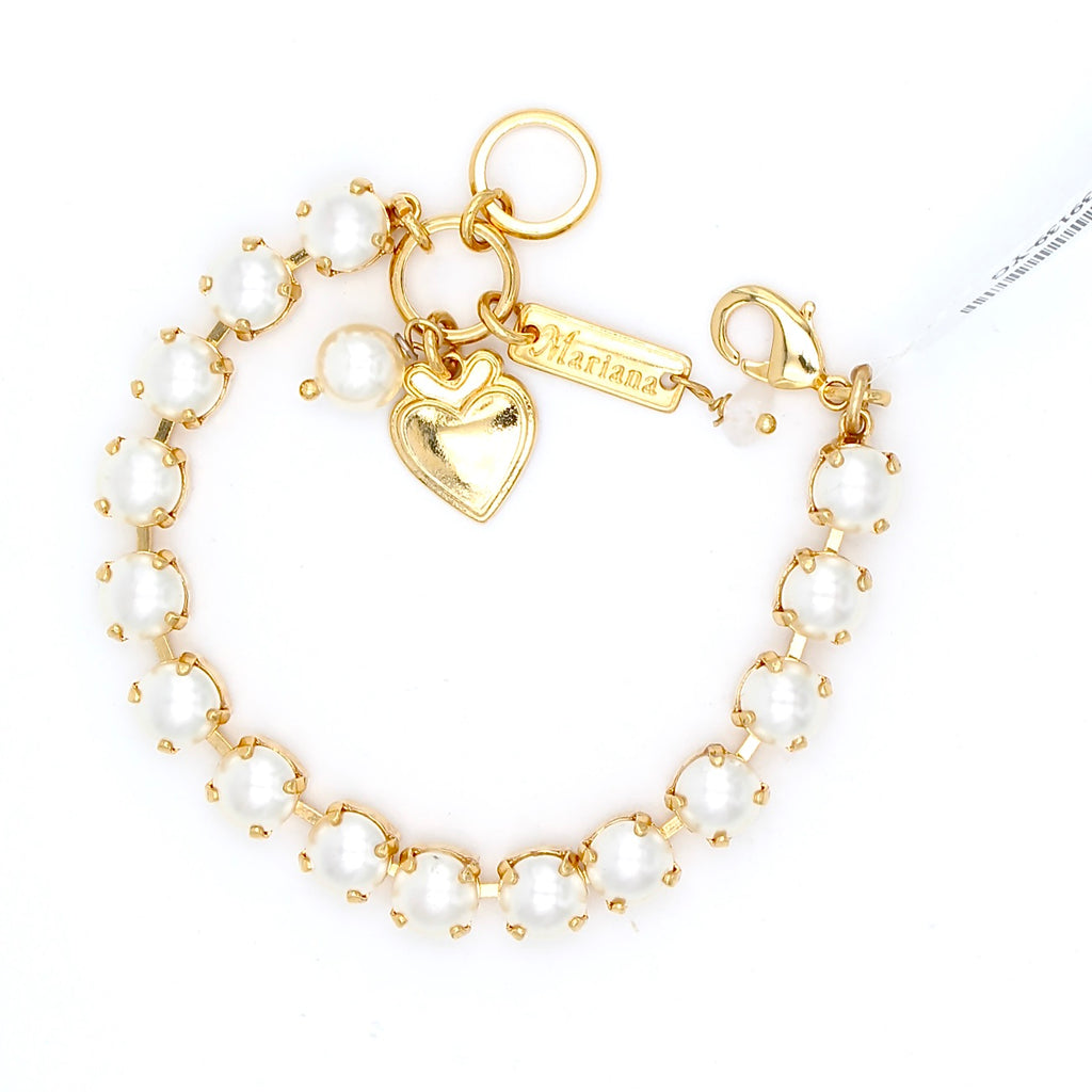 Pearl Must Have Crystal Bracelet in Yellow Gold