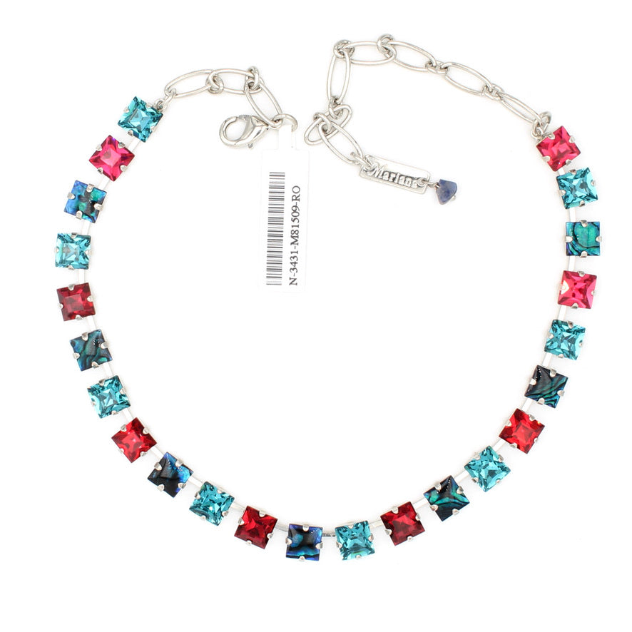 Festive Collection 8MM Square Crystal Necklace
