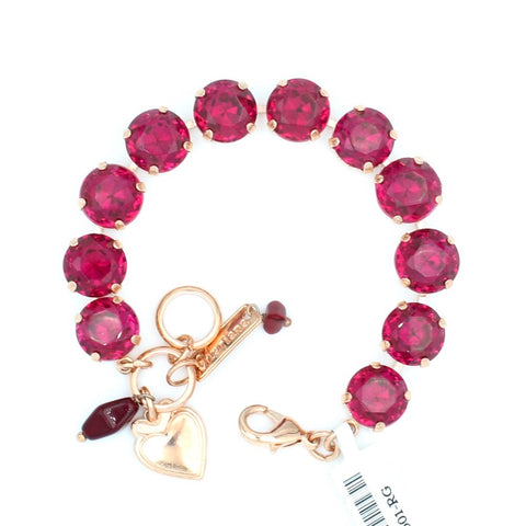 Ruby Lovable Crystal Bracelet in Rose Gold