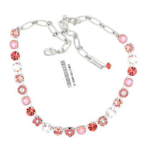 Lovers Coral Collection Crystal Heart Necklace