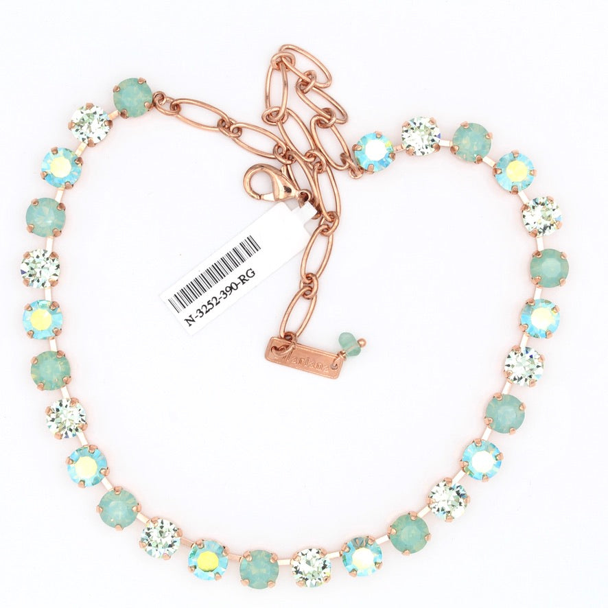 Green Ice Collection Must Have Crystal Necklace in Rose Gold