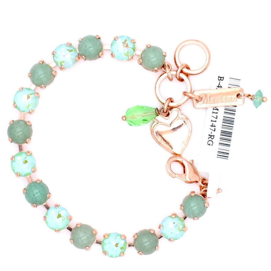 Jade and Peridot Sunkissed Must Have Crystal Bracelet in Rose Gold