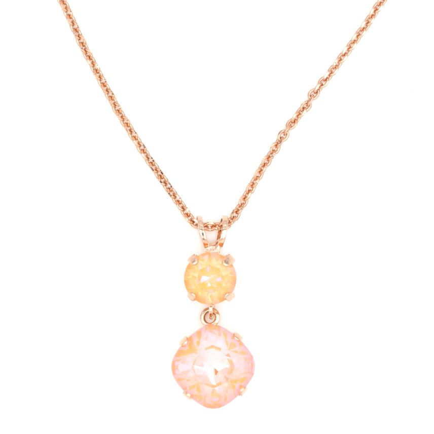 Peach Sunkissed Pendant Necklace in Rose Gold