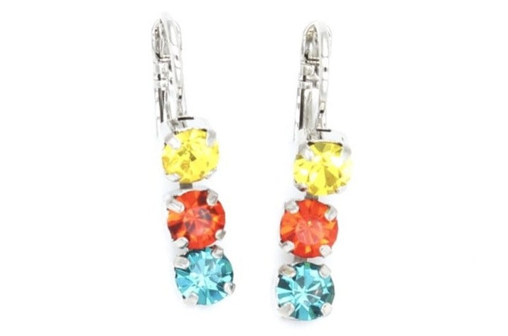Poppy Collection 5MM Triple Crystal Earrings