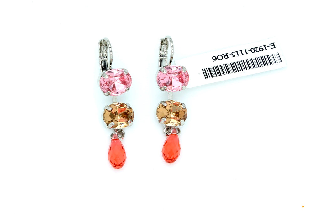 Gingerbread Collection Oval Crystal Earrings