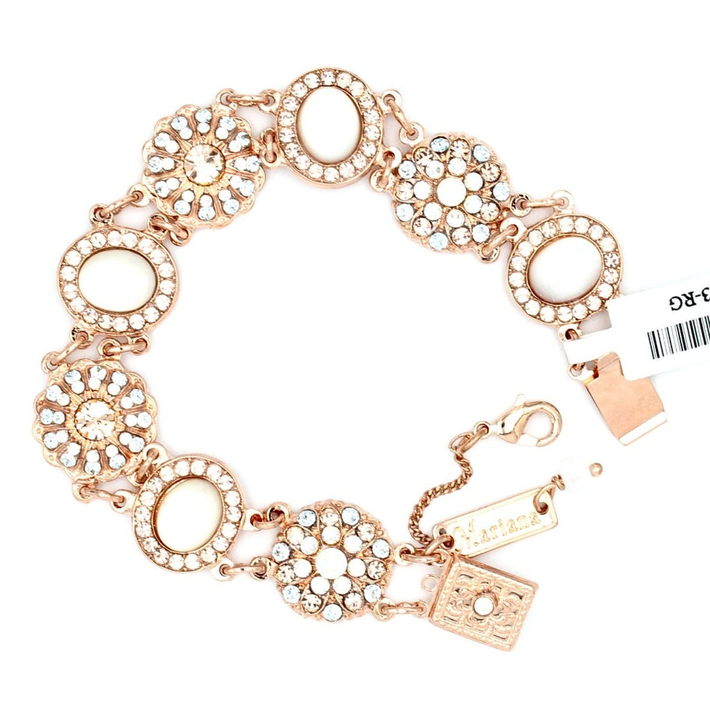 Sweet Pea  Collection Multi Crystal Bracelet - Not Adjustable, in Rose Gold