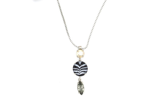 Black Orchid Collection Chevron Crystal Necklace