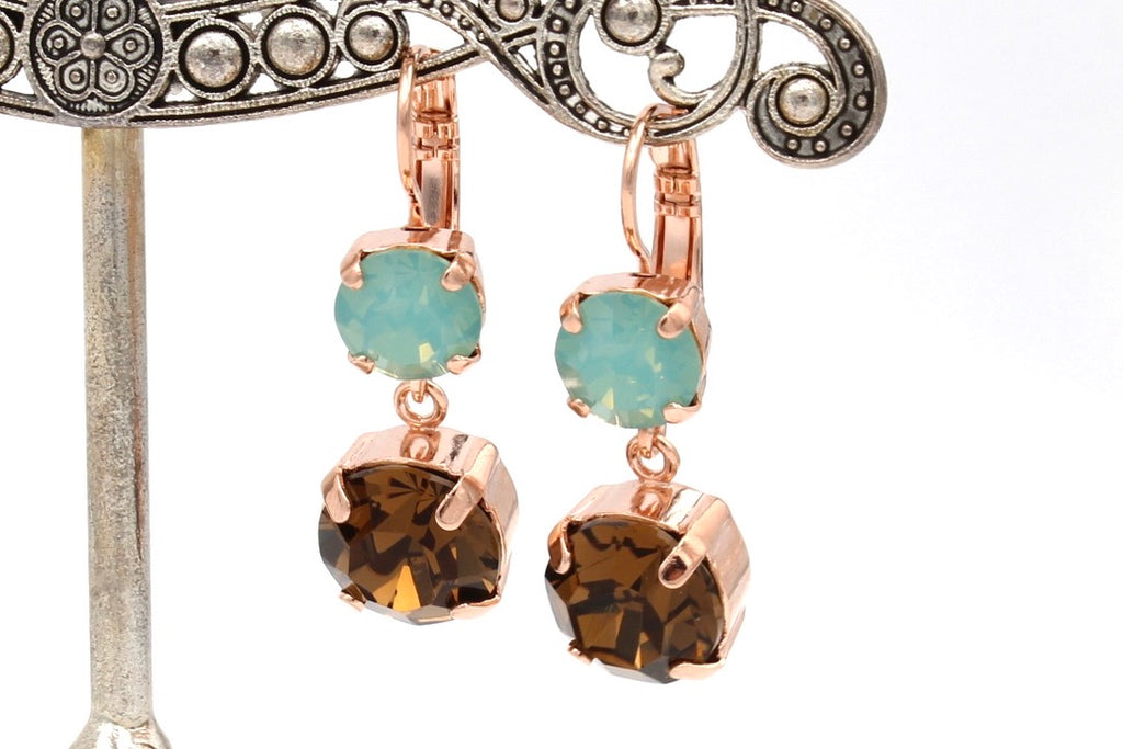 Gold Coast Collection Crystal Dangle Earrings in rose gold
