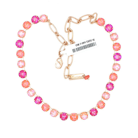 Sparkeltini Collection Must Have Crystal Necklace in Rose Gold