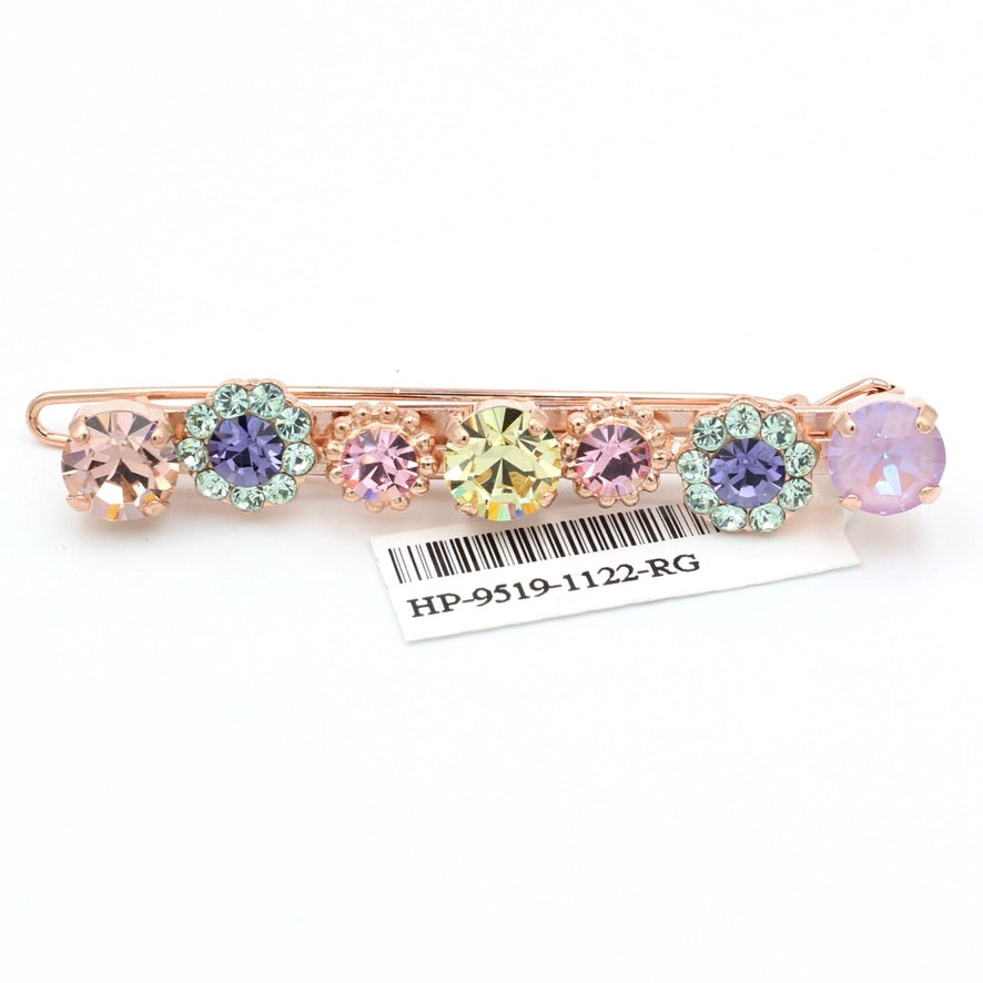 Purple Emperor Collection Crystal Barrette in Rose Gold