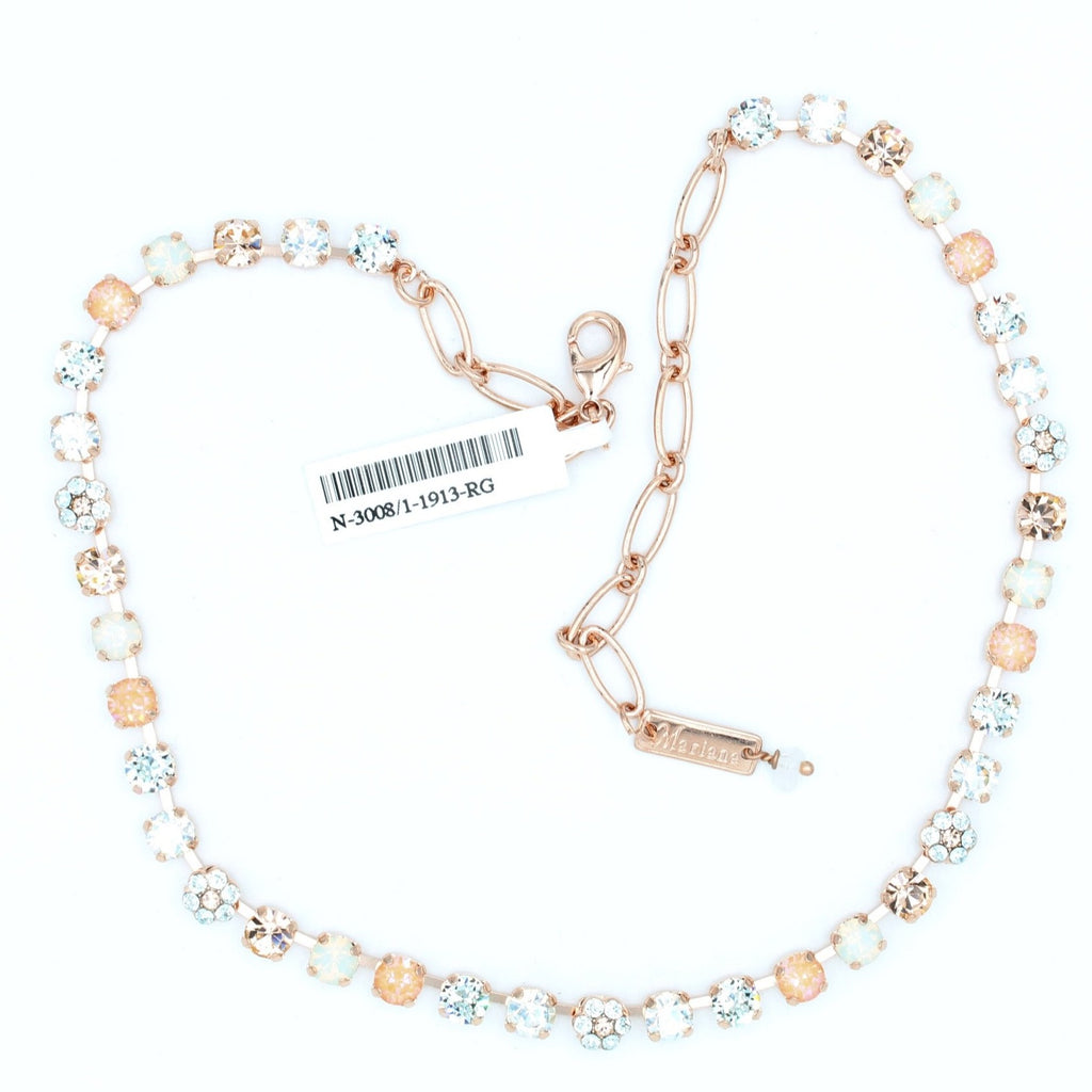 Sweet Pea Collection Crystal Necklace in Rose Gold