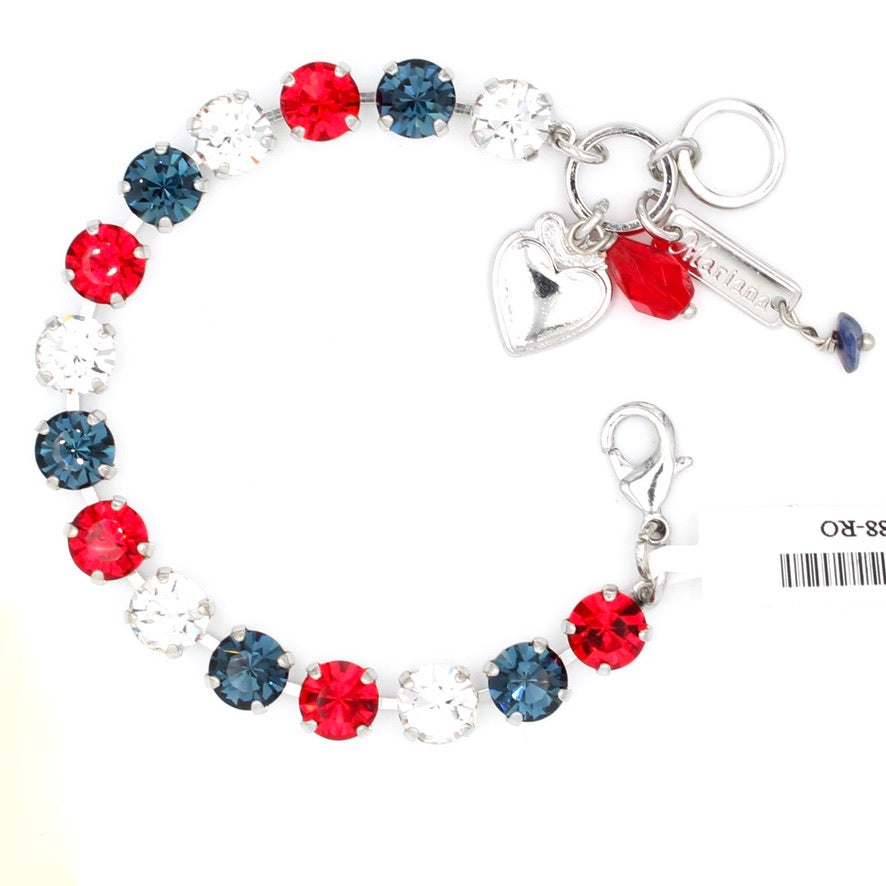 Patriot Collection Must Have Crystal Bracelet - Rhodium