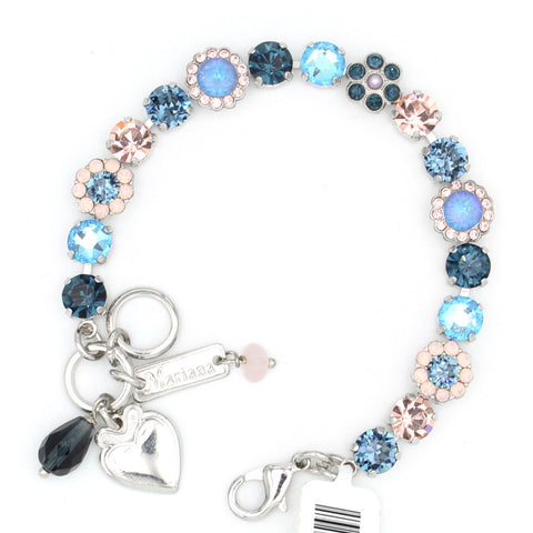 Blue Morpho Collection Must Have Ornate Crystal Flower Bracelet