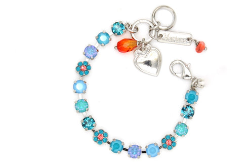 Bird of Paradise Collection Petite Crystal Flower Bracelet -SHORT