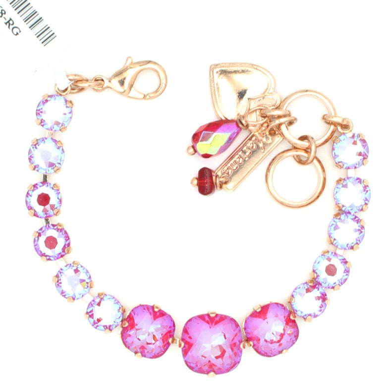 Blush Sunkissed Graduated Crystal  Bracelet in Rose Gold