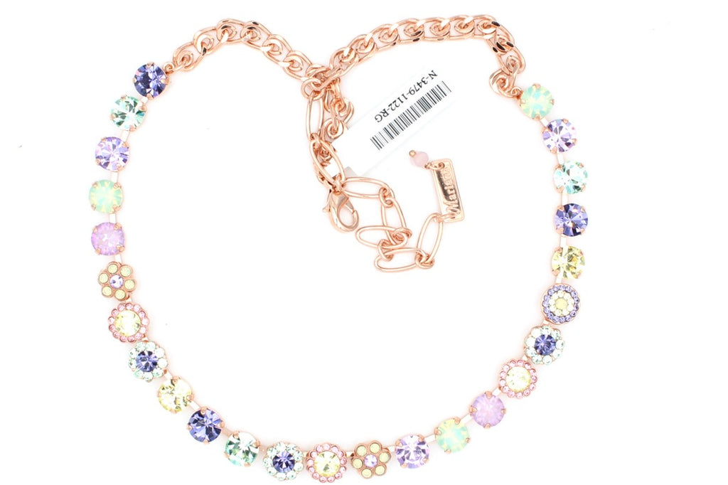 Purple Emperor Collection Must Have 8.5MM Flower Necklace in Rose Gold