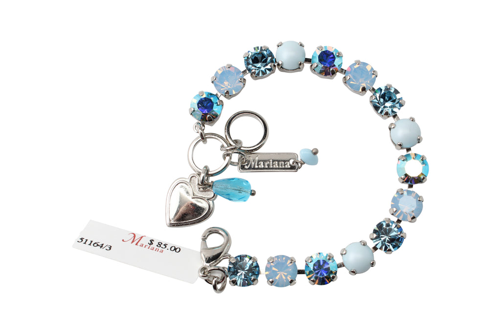 Periwinkle Medium Crystal Bracelet