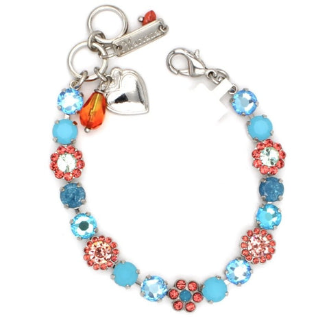 Bird of Paradise Collection Medium Crystal Flower Bracelet