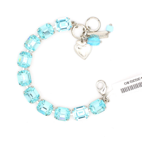 Aquamarine Rectangular Crystal Bracelet
