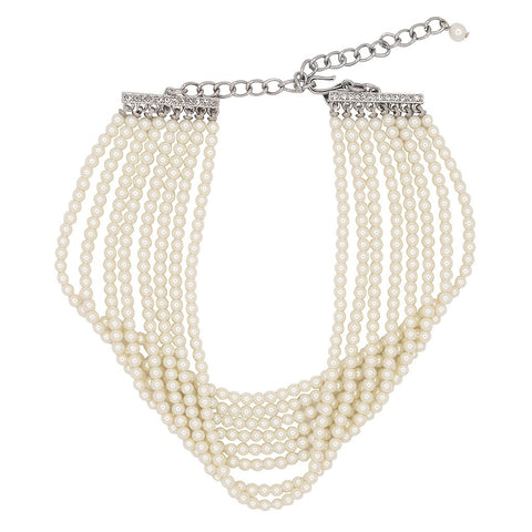 8 Row Cultura Pearl Choker Necklace