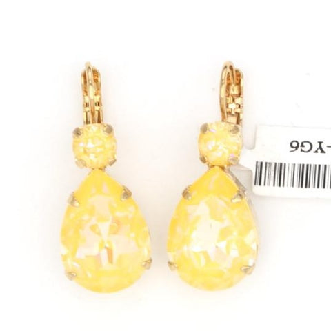 Sunshine Sunkissed Large Pear Earrings in Yellow Gold