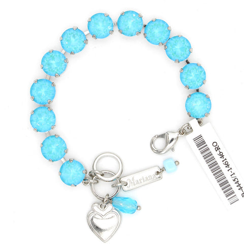 Aqua Sunkissed 10MM Lovable Crystal Bracelet