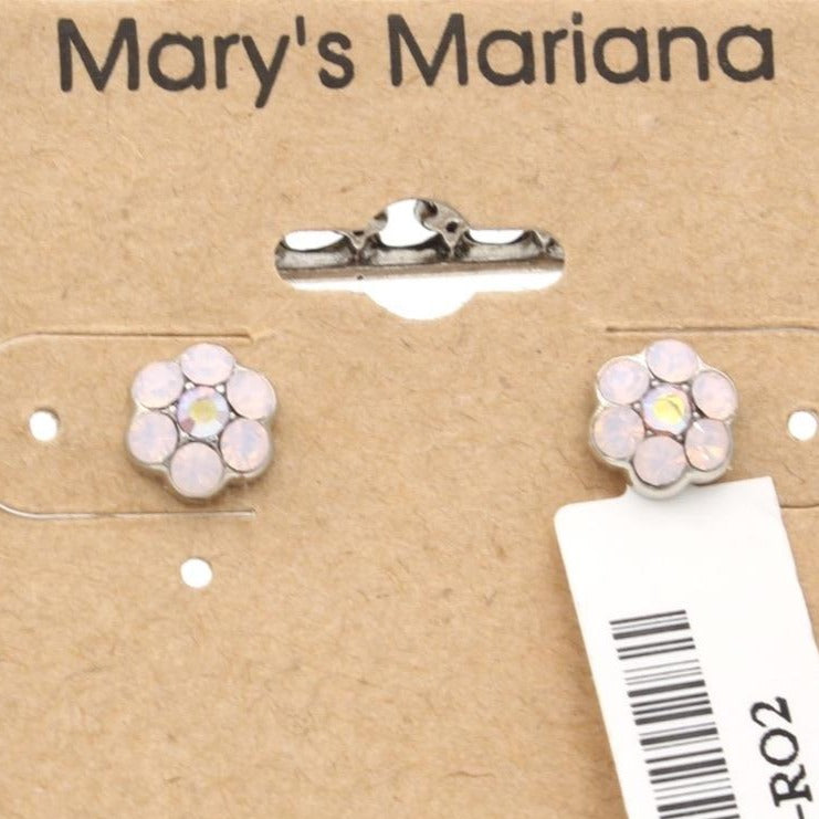 Rosewater Opal Small Flower Earrings  *POST*