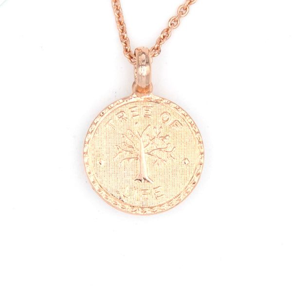 Poppy Collection Tree of Life Pendant in Rose Gold
