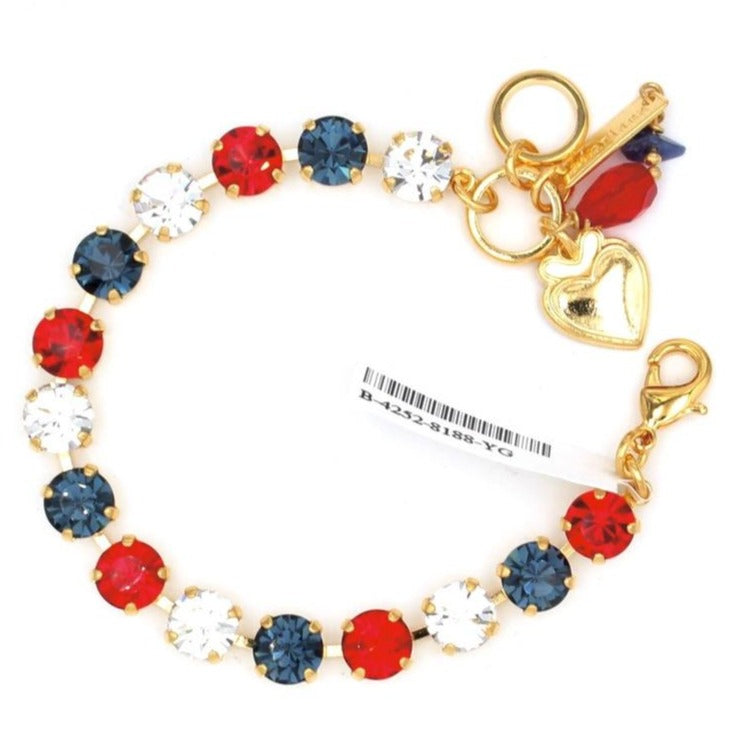 Patriot Collection Must Have Crystal Bracelet Yellow Gold
