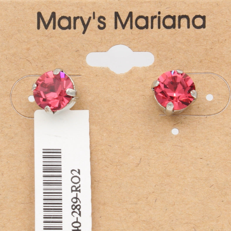 Indian Pink 8.5MM Earrings  **POSTS**