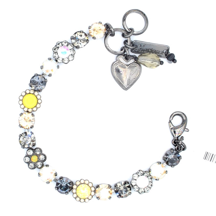 Painted Lady Must Have Flower Bracelet in Gray