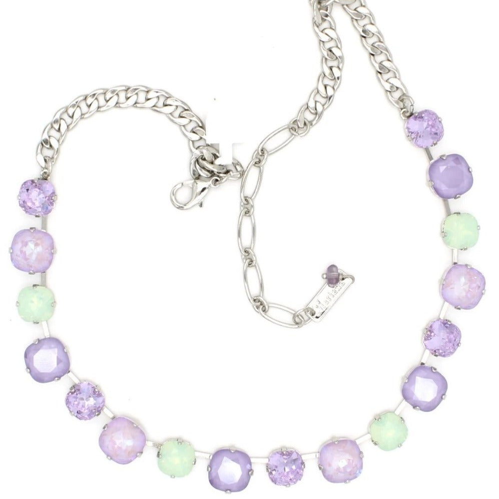 Lavender Collection Square Crystal Necklace