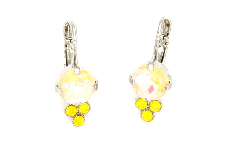 Sunkissed Sunshine Earring with Triple Crystal Accent