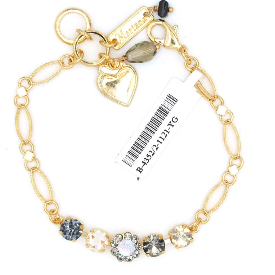 Painted Lady Collection Must Have Five Crystal Bracelet in Yellow Gold