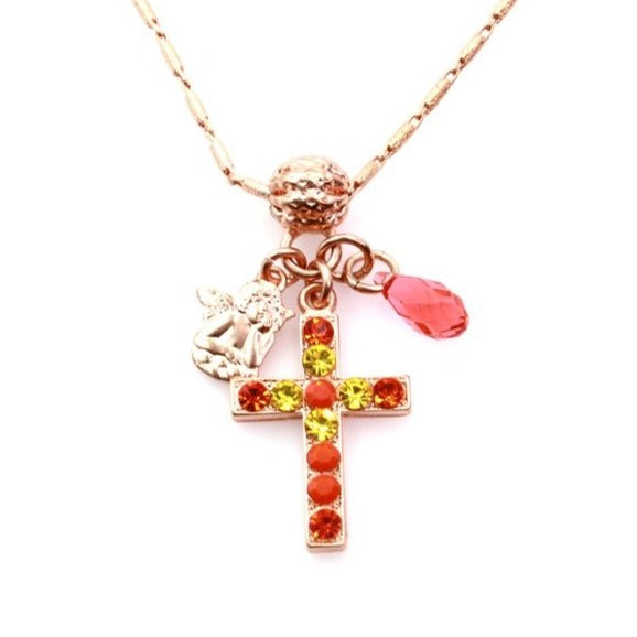 Strength Collection Cross Charm Necklace