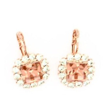 Peachy Keen Collection Square Earrings in Rose Gold