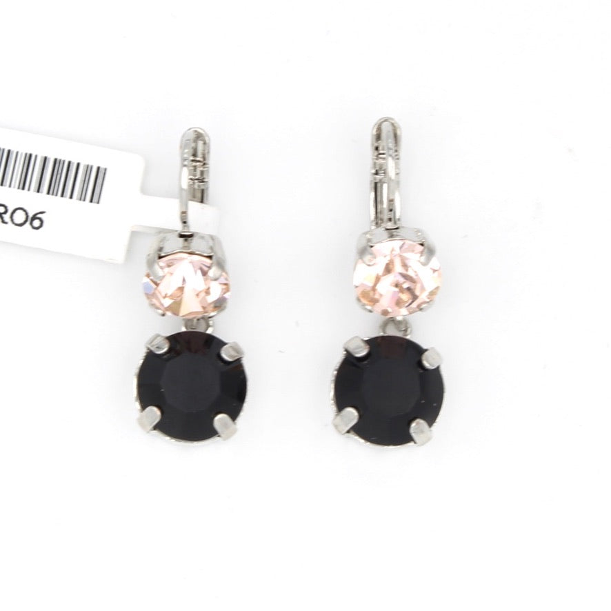 Black Orchid Collection Crystal Dangle Earrings