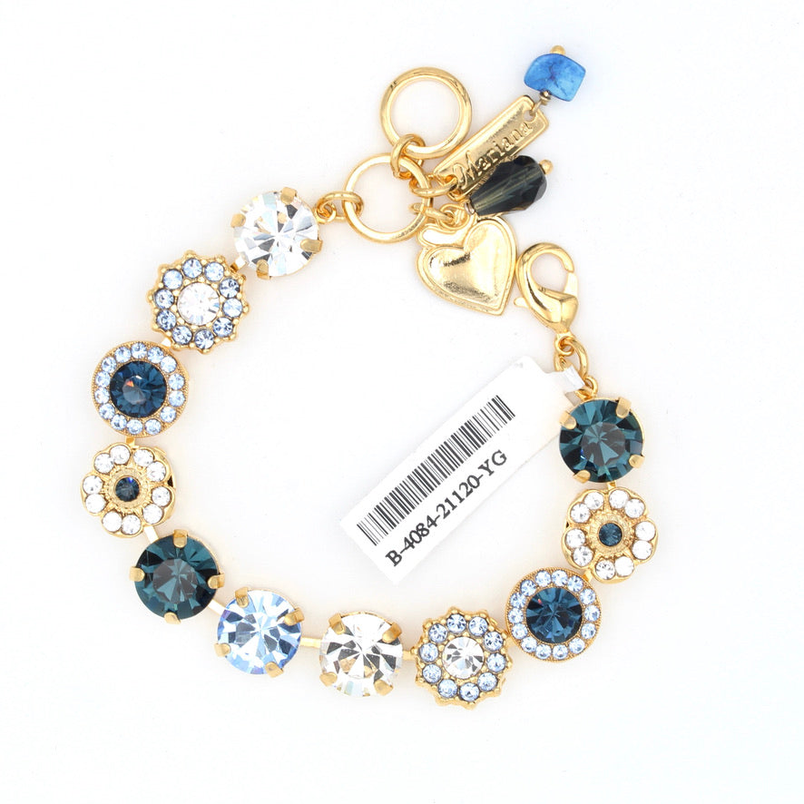 Night Sky Collection Lovable Crystal Bracelet in Yellow Gold