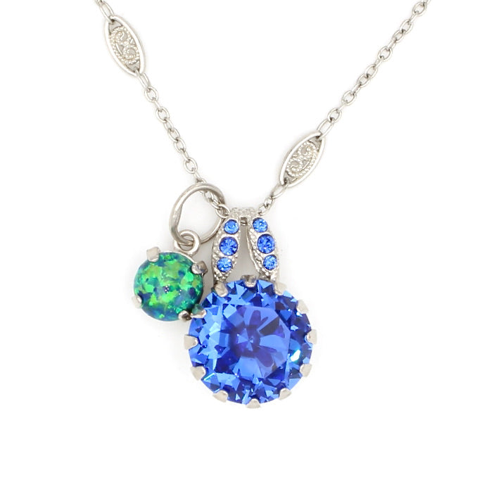 Serenity Collection Crystal Pendant Necklace