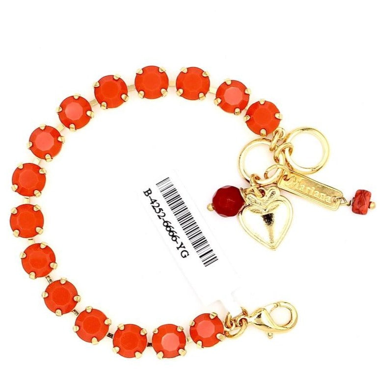 Coral Must Have Crystal Bracelet in Yellow Gold
